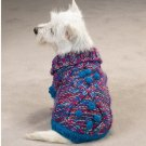 Shimmer Luxury Cable knit Dog Sweater W/ Poms XXS Teacu