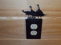 Custom Cabin craft wall outlet covers in sets of ten.