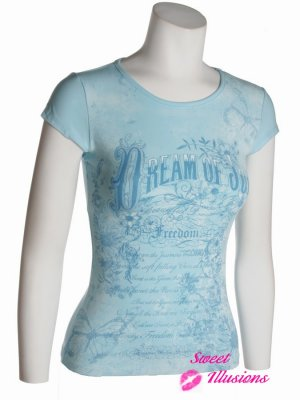 Blue Graphical Top Dream of Joy Jr. Large