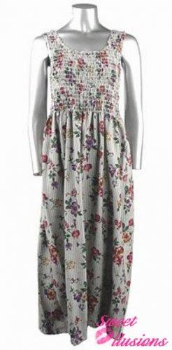 Ladies Floral Print Dress M-L-XL-XXL
