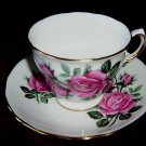 Royal Vale tea cup and saucer -ENGLAND - Roses #7529