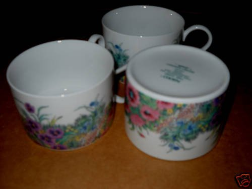 Nikko Secret Garden tea cups ( 10 available)