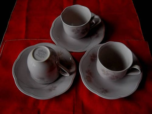 Mikasa Rondo cups/saucers-Sweet Leilani (10 sets avail)