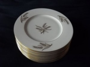 Lenox Harvest salad  plates (12 available)   gold