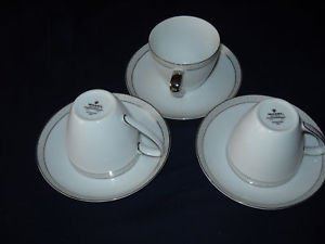 Mikasa Aristocrat tea cups/saucers (8 available)#8396