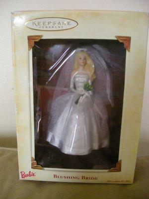 2002 Hallmark Barbie Blushing Bride Keepsake Ornament