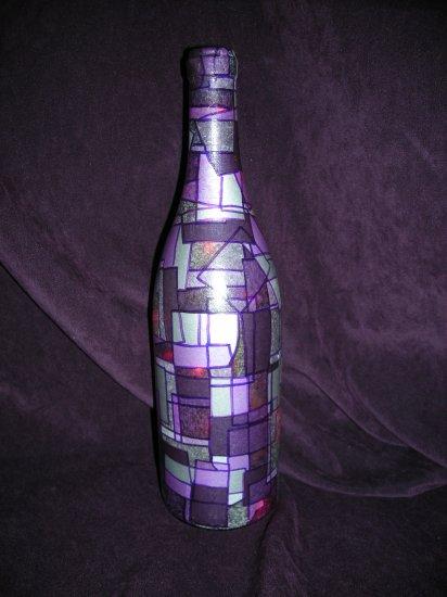 Wine Bottle Decorative Lamps Purple Passion SOLD