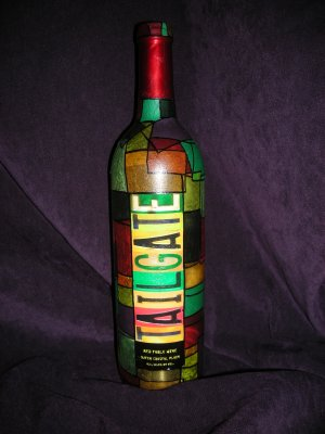 "Wine Bottle Decorative Lamps Multi-colored ""Tailgate"""