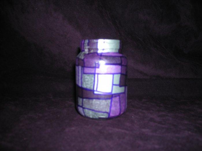 Recycled Jar Tealight Holder - Purple Passion