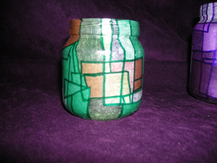 recycled Jar Tealight Holder - Green is Gold