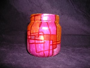 recycled Jar Tealight Holder - Relaxing Reds
