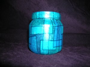 recycled Jar Tealight Holder - Cool Blue
