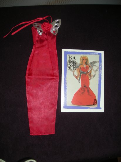 Jewel Secrets Fashions Red Dress #1859 1986 (Barbie clothes, clothing, dress)
