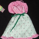 My First Barbie Fashion Dress Pink w/Buds #4868 1983 (Barbie clothes, clothing, dress, my first)