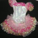 Barbie Clothes  Dress Shiny Pink and Frills (Barbie Clothes, clothing, dress)