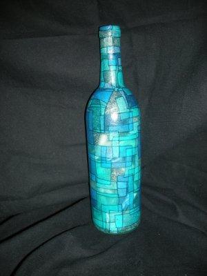 Wine Bottle Decorative Lamps Blue Haze