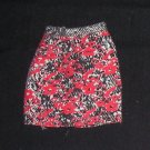 Barbie Clothes Skirt Short Red and Black (barbie fashions, doll clothes, outfits)