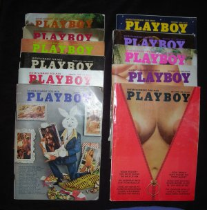 Vintage Playboy Magazine Year 1973  (All but August)