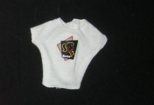 Barbie Clothes Shirt White with Decal (barbie fashions, doll clothes, outfits)