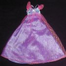 Barbie Clothes Dress Purple with Pink Sparkle (barbie fashions, doll clothes, outfits)
