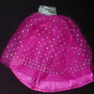 Barbie Clothes Gown Skirt Magenta with Silver Spots (barbie fashions, doll clothes, outfits)