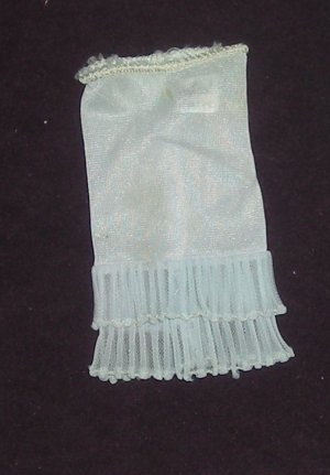 Barbie Clothes Vintage Undergarments 919 Blue Half Slip (barbie fashions, doll clothes, outfits)