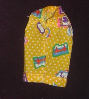Barbie Clothes California Dreams Doll 1987 4439 Vest (barbie fashions, doll clothes, outfits)