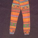 Barbie Clothes Pants Tights Multi Color Orange Pattern (barbie fashions, doll clothes, outfits)