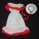 Barbie or Clone Clothes Dress Hat Shoes Red Polka Dots (barbie fashions, doll clothes, outfits)