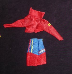 Barbie Clothes Baywatch Lifeguard Jacket Shorts 1994 (barbie fashions, doll clothes)
