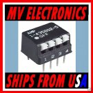 AMP 4 Position Side Actuated SPST DIP Switches 10 pcs.