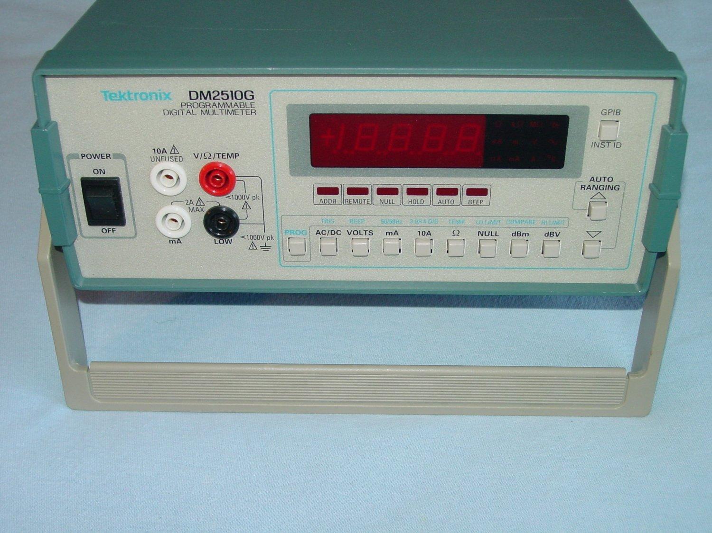 TEKTRONIX DM2510G PROGRAMMABLE DIGITAL MULTIMETER