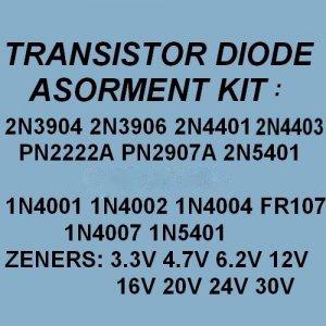 Transistors Zener Diodes Rectifiers Assortment KITS 200X