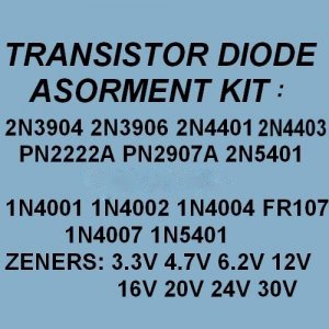 Transistors Zener Diodes Rectifiers Assortment KITS 240X