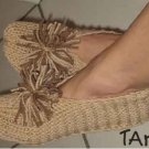 Ladies Hand Knitted Knit Slippers One Size Fits Most