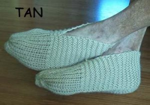 MEN'S SLIPPERS SHOES HAND KNITTED FITS 8 9 10 11 12