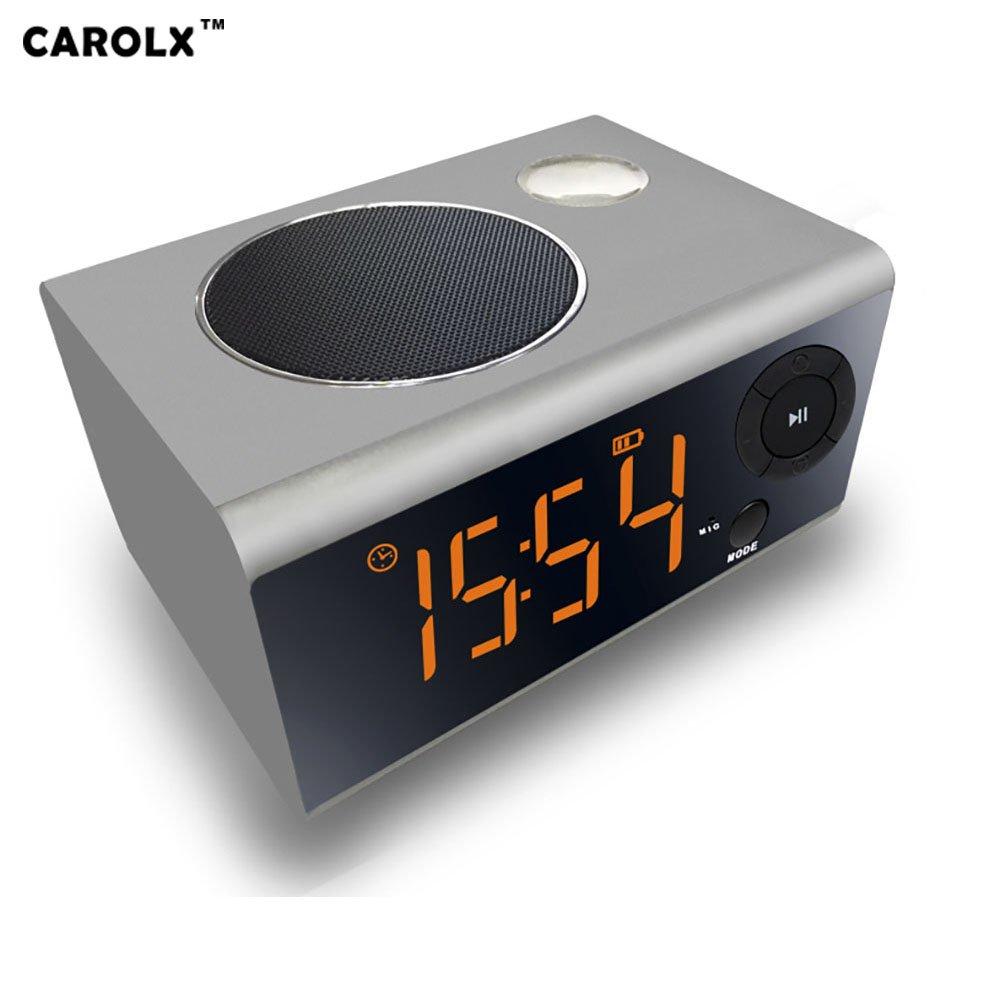 Multi-function bluetooth 4.2 speaker 5W, 2000 mAh battery, night light, clock, alarm clock, radio
