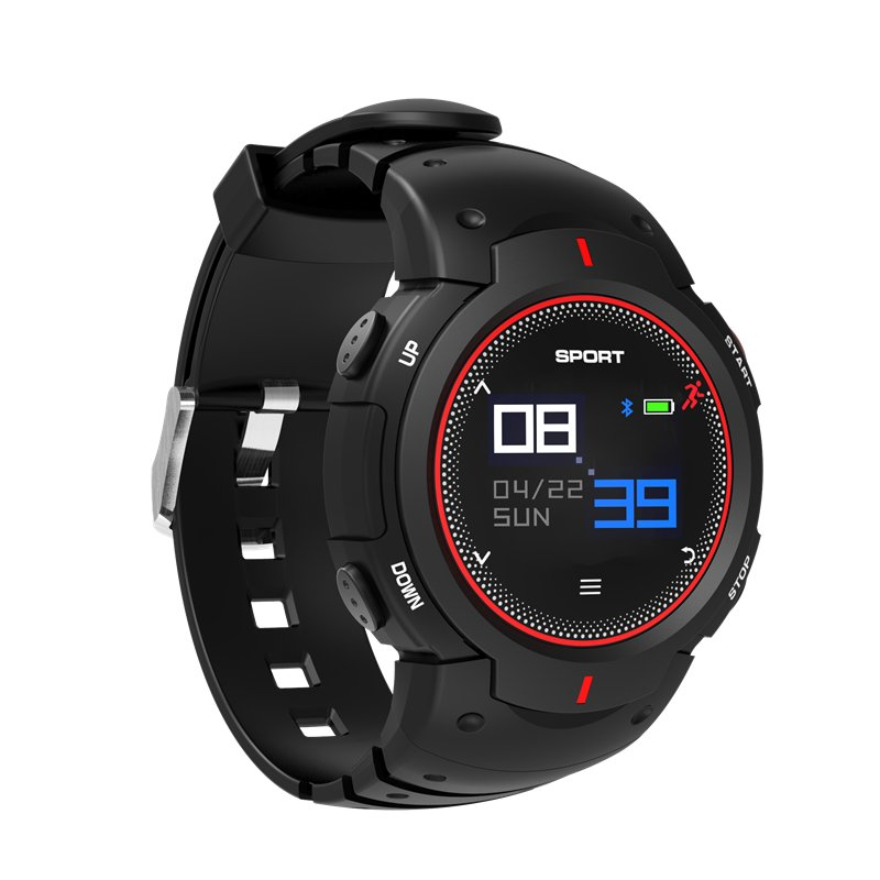 Smartwatch - Bluetooth 4.0, Heart Rate, Pedometer, Sedentary Reminder, Sleep Monitor(Red)