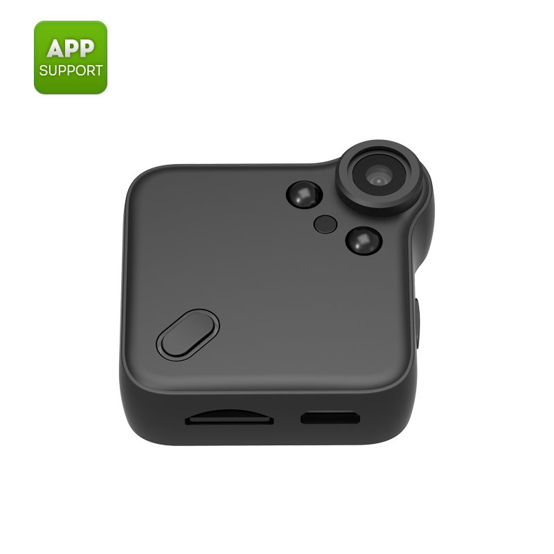 Wearable mini WiFi camera -1080P, night vision, motion detection, CMOS sensor, 64GB SD cardslot