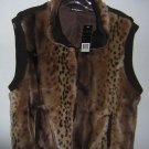 Remie Fur Vest in Browns by Milano Sz XL NWT $56