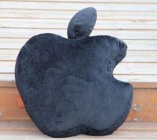 Apple Logo Black Brand New Cushion Complete Throw Pillow