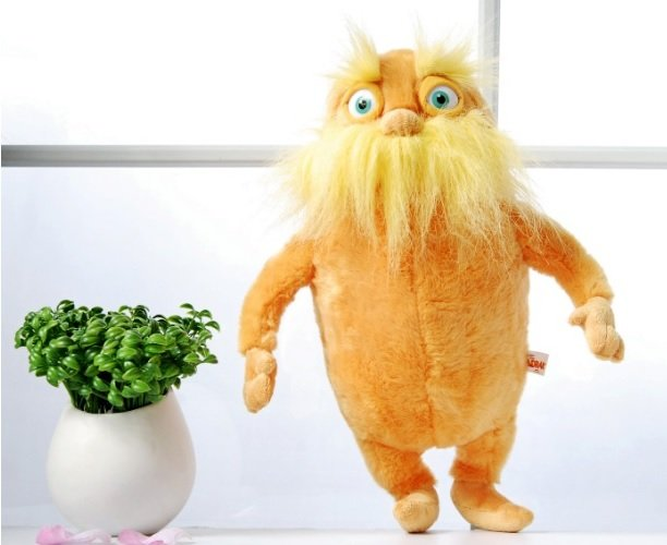 "Dr. Seuss' The Lorax 15.7"" Plush Stuffed Toy Doll Orange Yellow New Gift"