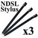 3 x Nintendo DS Touch Stylus Pens Lite BRAND NEW