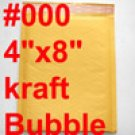 3000 pcs #000 4x8 Kraft Bubble Mailers