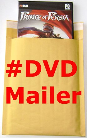 "250 pcs #DVD 6.5""x10"" Kraft Bubble Mailers"