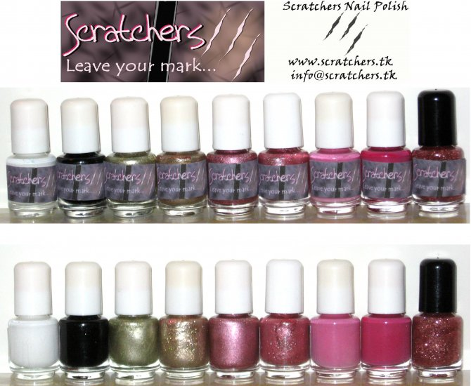 Valentine's Package - Scratchers 5mL AnyWEAR Stamping Nail Polish to use with Konad Image Plates
