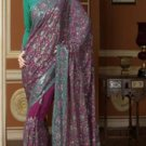 Purple Georgette Saree with Blouse