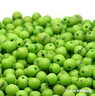 Acai beads, Pack of 50 beads - Apple green