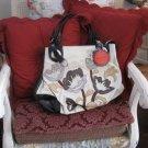 Chic floral handbag!