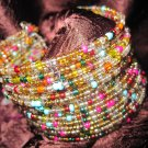 Multi-Colored Beaded Cuff Bracelet